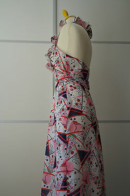 Vintage Shubette London Kleid dress  maxi Halterneck 70er 70s