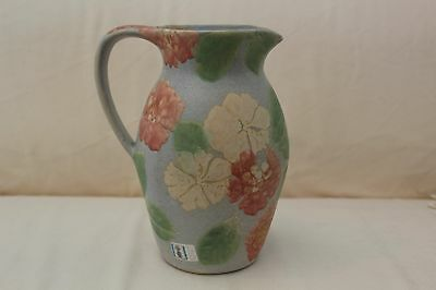 Vintage 1980's Hand Painted Floral Conwy Pottery Jug