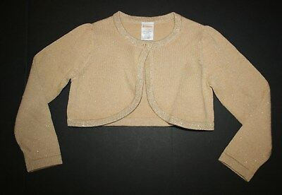 New Gymboree Outlet Gold Glitter Shine Cardigan Sweater NWT 4 5 6 7 8 10 12 Kid