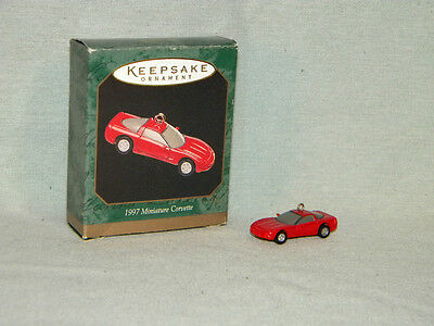 1997 Miniature Corvette MIB Hallmark Miniature Keepsake Ornament