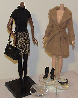 Classic Camel Coat Silkstone Barbie Complete Fashion Outfit Ensemble No Doll
