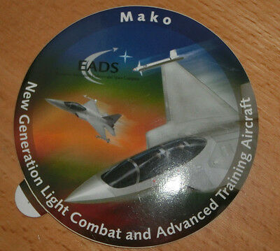 ♛ EADS Mako New Generation Light Combat and adv. Train. Aircraft Aufkleber rund