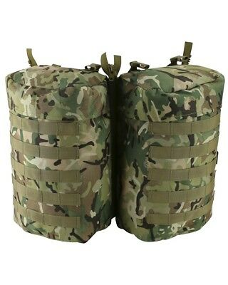 Pair of Military Forces Camouflage PLCE Side Pouches BTP MTP style Camo MOLLE