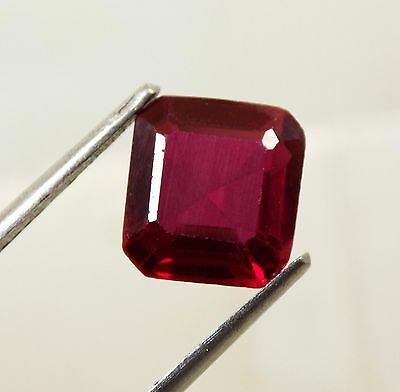 4.60 Cts. Awesome Aaa Thai Red Ruby Square Loose Gemstone