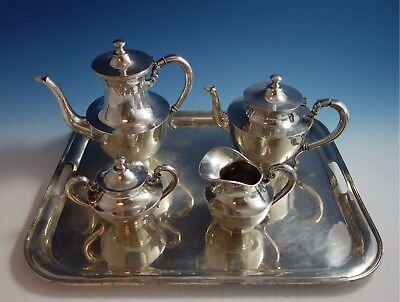 Heather Mexican Mexico Sterling Silver Tea Set 4pc with Tray (#1795)