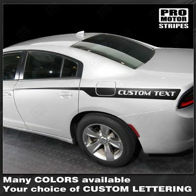 Dodge Charger 2011-2019 Front to Rear Side Accent Stripes Decals Choose Color
