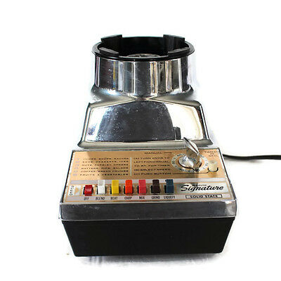 Vintage Montgomery Wards Signature Blender Base Mixer 6 Speed 864584166X Chrome