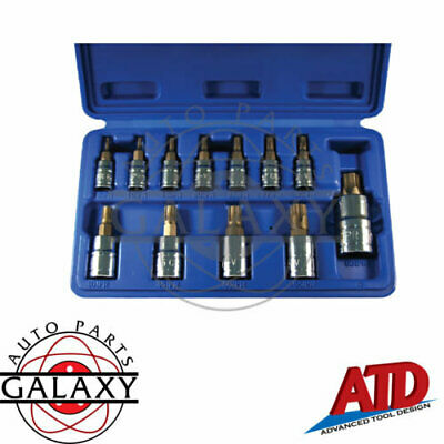ATD 12 Piece 5-Lobe Tamper Resistant Star Plus Bit Socket Set #13778
