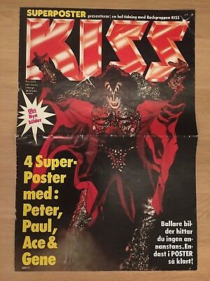 Kiss Superposter - Cover - From Sweden Swedish Poster Magazine 1980