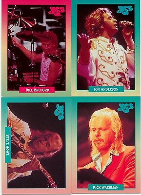 YES The Band! Brockum Rockcards  Anderson, Bruford, Wakeman, Howe 1991 - Perfect