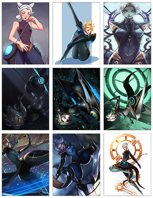 "LEAGUE OF LEGENDS - Camille 9-pc Stickers Set - 2.5""x3.25"" (PS4, XBOX, GAME)"