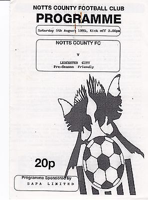 Notts County V Leicester 1995 Friendly