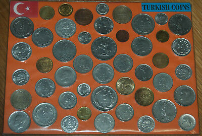Turkey Coins - Pack Of 47, Free P&p