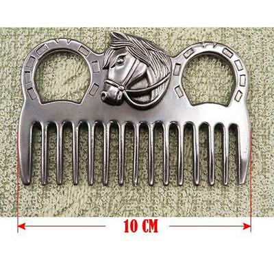 Premium Stainless Steel Pony Horse Grooming Comb Tool Currycomb Accessories