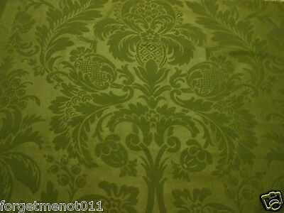 Antique French Linen & Light Wool Toile Pomegranate Pineapple Ferns Lrg Remnant