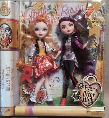 Ever After High - School Spirit - Apple White And Raven Queen Dolls