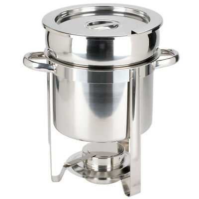 Deluxe 7 qt. Soup Chafer / Marmite Stainless Steel Round Chafing Dish