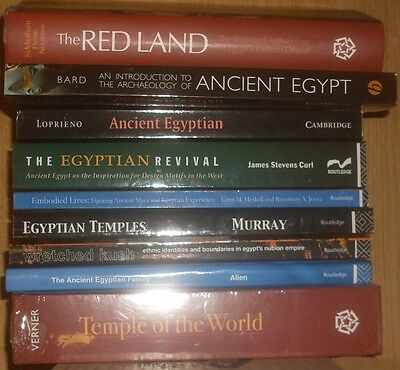 LOT ( 9 ) Ancient Egypt Egyptology Archaeology Linguistics Temples Nubian