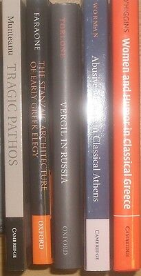 LOT ( 5 ) Greece Greek Ancient Literature Elegy Women Pathos Vergil Academic