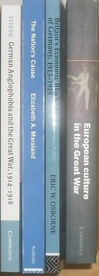 LOT ( 4 ) First World War One Great War Culture Blockade Anglophobia Academic