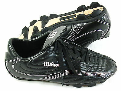 Wilson Soccer Cleats Youth Girls Size 5 US Black Pink Excellent
