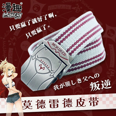 Fate Grand Order Saber Mordred Anime Canvas Cotton Belt Waistband