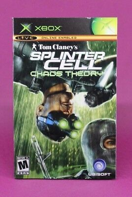 Instruction Booklet/Manual Only For Splinter Cell Chaos Theory Xbox (No Game) 👑