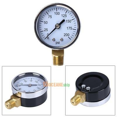 "1/4"" NPT Side Mount 2""Face 200PSI Air Compressor Hydraulic Pressure Gauge #ORP"