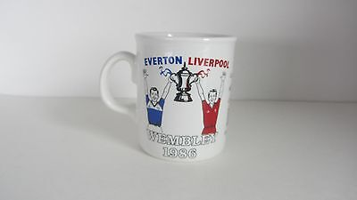 Everton V Liverpool 1986 1St All Merseyside Fa Cup Final Mug In Mint Condition
