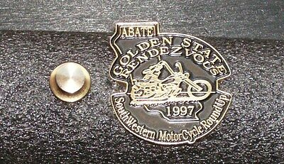 ABATE Motorcycle Pin - Golden State Rendezvous 1997