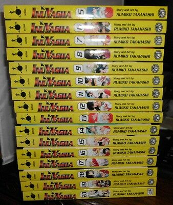 Volumes 5 to 20 of InuYasha Mangas by Rumiko Takahashi~Viz Media