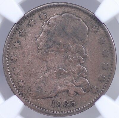 1835 Capped Bust Quarter Ngc Fine Details - Damaged - Still Presentable