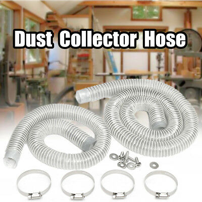 Industrial Extractor Dust Collector Hose +Hoop+Screw For CNC Machine WoodWorking
