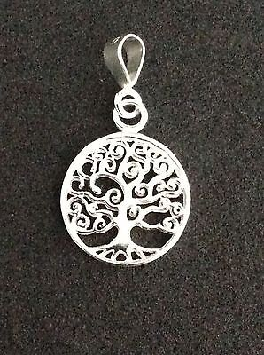 Sterling 925 Silver Tree of Life Pendant (12mm) - Protection - Knowledge -