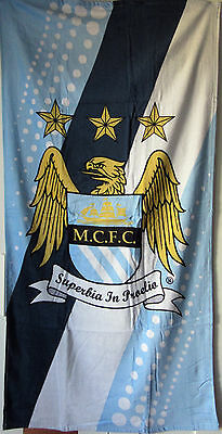 Manchester City Official Beach/Bath Towel R.R.P $60 Brand New And Sealed