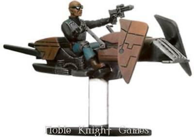 WOTC Star Wars Minis Bounty Hunter Dark Hellion Marauder on Swoop Bike NM