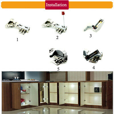 10PCS Cabinet Cupboard Closet Wardrobe Door Inner Hinge LED Sensor Light Kitchen