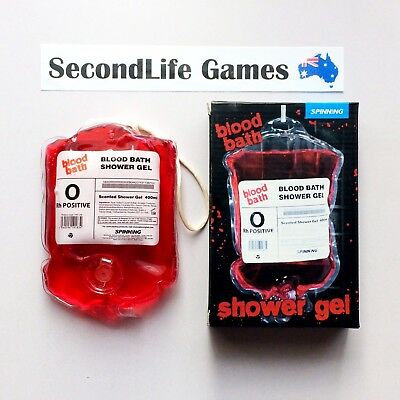 BLOOD BATH 400ml Shower Gel ~ Spinning Hat. Scented Gag Trick. SecondLife Games.
