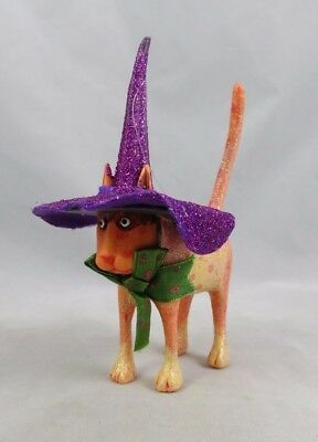 Dept 56 Patience Brewster Krinkles - Witch Cat Halloween Figurine Ornament