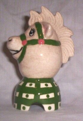 Horse #380 DHP3 Ceramic Character Egg Smiling Pie Bird