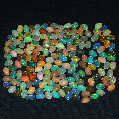 165 Pcs ~Certified Lot~ AAA Natural Ethiopian Opals Flashy & Vibrant Color Play