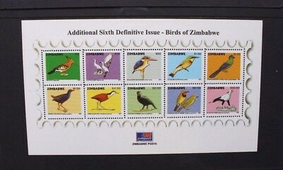 ZIMBABWE 2007 Birds (2nd series). SOUVENIR SHEET. Mint Never Hinged. SGMS1225.