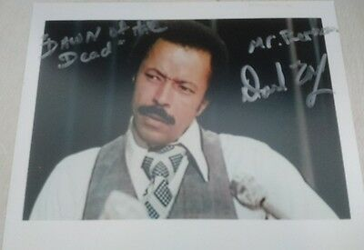 David Early 8x10 Hand Signed Photo 'Mr Berman ' From 'Dawn Of The Dead '