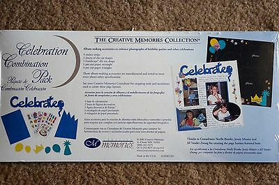 Creative Memories Celebration Combination Die Cut/Sticker Pack Scrapbook
