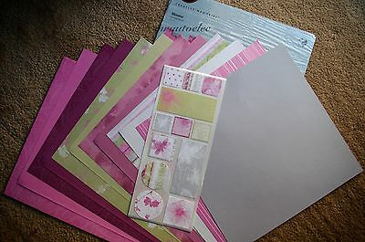 Creative Memories 12x12 Blooms Pink Decorative Kit Scrapbook