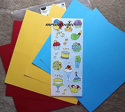 Creative Memories True 12x12 Primary Cardstock Decorative Kit