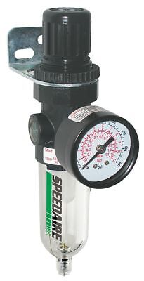 "Speedaire 1/4"" NPT Filter/Regulator, 14 cfm Max. Flow, 150 psi Max. Pressure -"