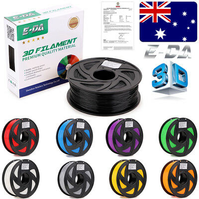 E-DA Premium 3D Printer Filament 1.75mm PLA ABS 1KG Colour 340M 400M Engineer AU