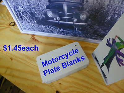 """4"""" x 7"""" Gloss White UV PLUS! Motor Cycle Plate Blank, .032"""" Thick"""