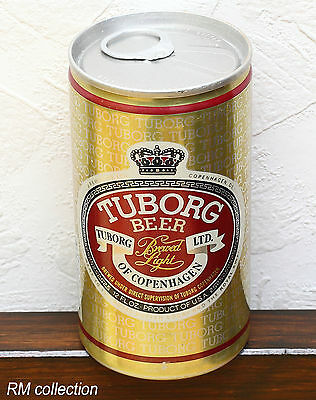 TUBORG BREWED LIGHT 1970s American beer can bottom opened